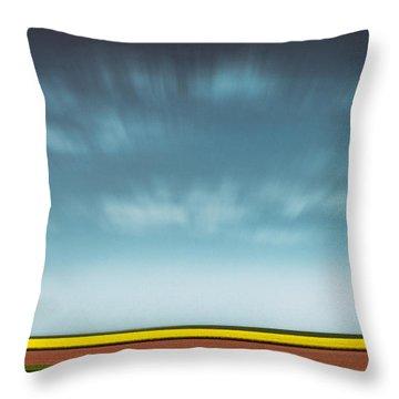 Normandy Fields Throw Pillow