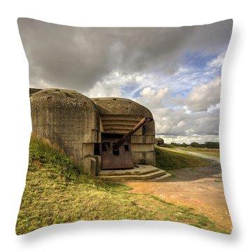 Normandy Gun  Throw Pillow