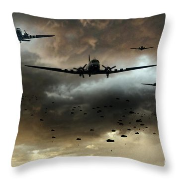 Normandy Invasion Throw Pillow