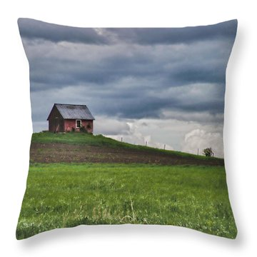 North 40 Throw Pillow by Jeff Folger