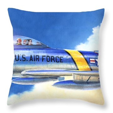 North American F-86f Sabre Throw Pillow