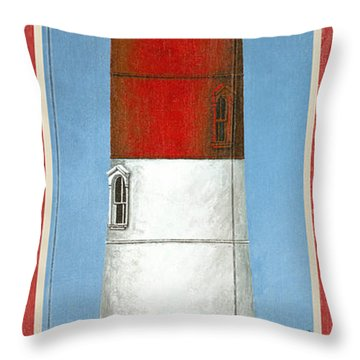 North American Lighthouses - Nauset Throw Pillow
