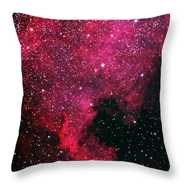 North American Nebula Throw Pillow by Alan Vance Ley