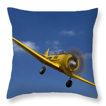 North American T6 Throw Pillow by Debra and Dave Vanderlaan