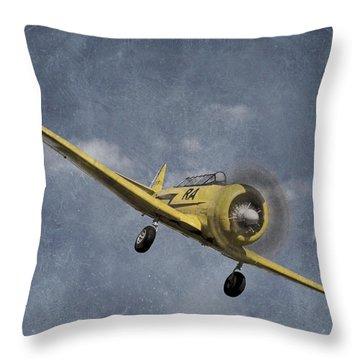 North American T6 Vintage Throw Pillow by Debra and Dave Vanderlaan