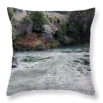 North And Middle Fork Of Smith River 2 Throw Pillow