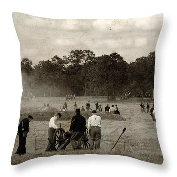 North And South Throw Pillow by Beverly Stapleton