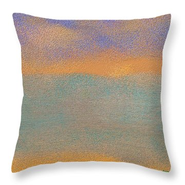 North Beach .morning Fog. Dead Sea Throw Pillow
