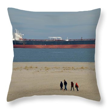 Throw Pillow featuring the photograph North Beach Sandy Hook by Steven Richman