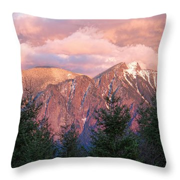 North Bend Washington Sunset 2 Throw Pillow