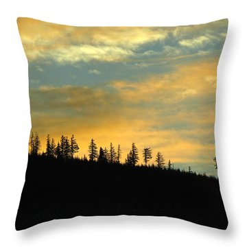 North Bend Washington Sunset Throw Pillow