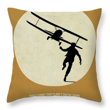 North By Northwest Poster Throw Pillow