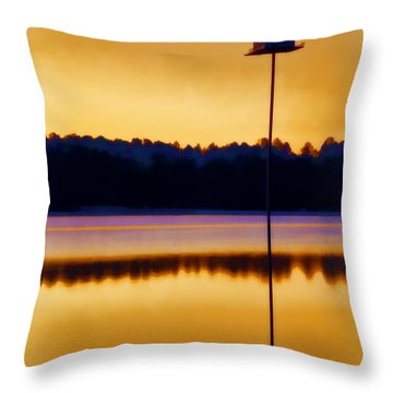 North Carolina Sunrise Throw Pillow