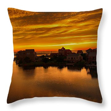 North Carolina Sunset Throw Pillow by Tony Cooper