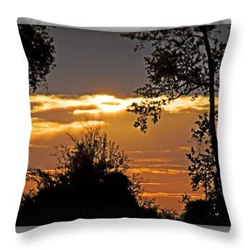 North Carolina Sunset Throw Pillow by Walter Herrit