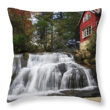 North Carolina Waterfall Throw Pillow
