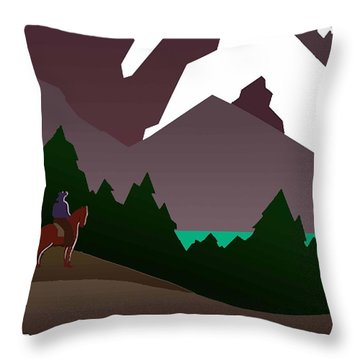 North Cascades National Park Vintage Poster Throw Pillow by Eric Glaser
