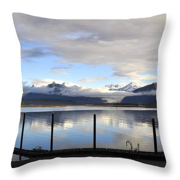 Throw Pillow featuring the photograph North Douglas Reflections by Cathy Mahnke