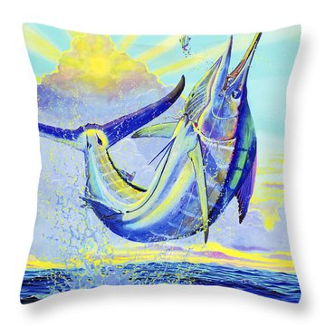 North Drop Off00132 Throw Pillow by Carey Chen