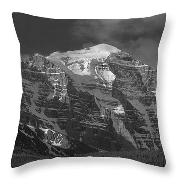 203553-north Face Mt. Temple Bw Throw Pillow
