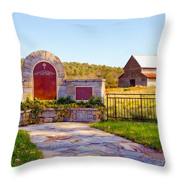 Throw Pillow featuring the photograph Landscape Barn North Georgia by Vizual Studio