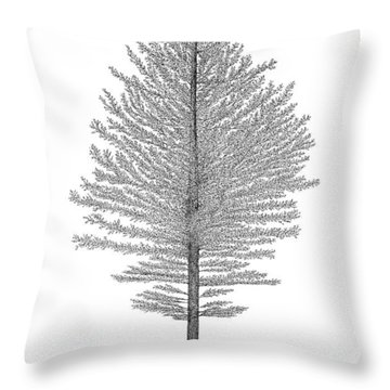 North Of America Throw Pillow