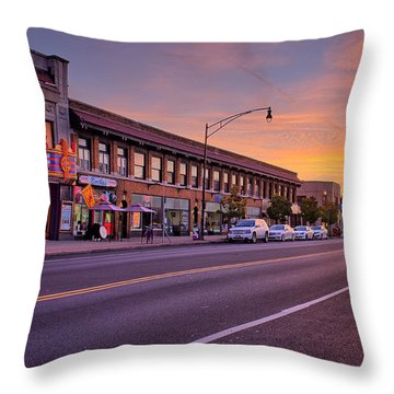 North Park Theatre Throw Pillow