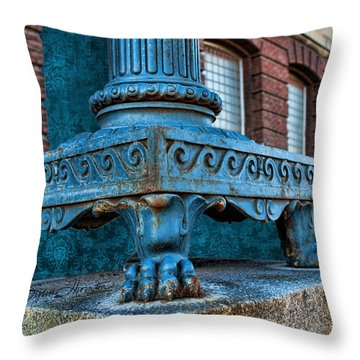 North Platte Post Office Lamp Post Throw Pillow