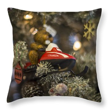 North Pole Express Throw Pillow
