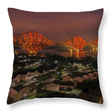 Throw Pillow featuring the photograph North Queensferry by Ross G Strachan