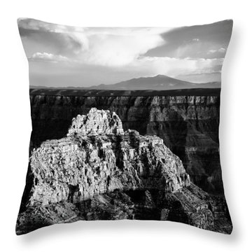 North Rim Throw Pillow by Dave Bowman