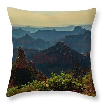 Throw Pillow featuring the photograph North Rim Grand Canyon Imperial Point by Bob and Nadine Johnston