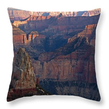 North Rim Sunset Throw Pillow