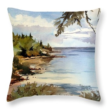 North Shore Lake Superior Throw Pillow by Spencer Meagher
