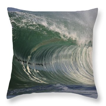 North Shore Powerful Wave Throw Pillow by Vince Cavataio