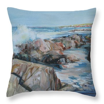 North Shore Surf Throw Pillow
