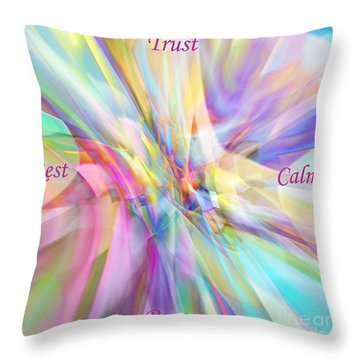 North South East West Throw Pillow by Margie Chapman