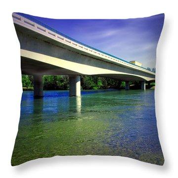 North Street Bridge Anderson Ca Throw Pillow
