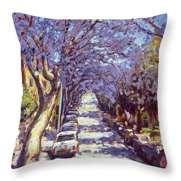 North Sydney Jacaranda Throw Pillow