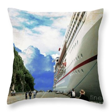 North To Alaska Throw Pillow by Janette Boyd
