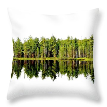 North Tree Reflection Throw Pillow