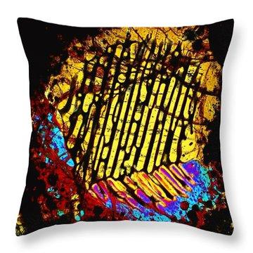 Neon Fingerprint Throw Pillow