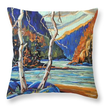 North West Lake By Prankearts Throw Pillow by Richard T Pranke