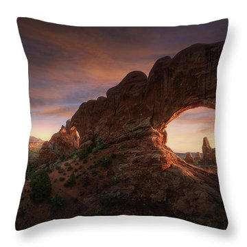 Arched Window Throw Pillows