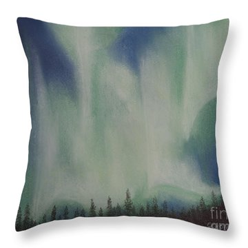 Throw Pillow featuring the painting Northern Angel Bird by Stanza Widen