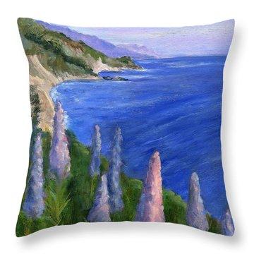 Northern California Cliffs Throw Pillow