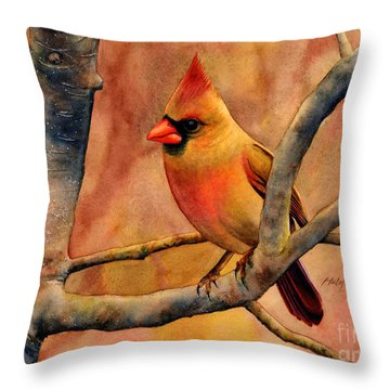 Northern Cardinal II Throw Pillow