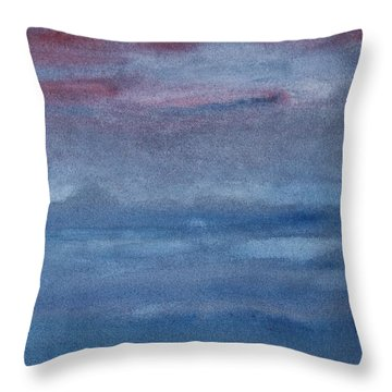 Northern Evening Throw Pillow by Susan  Dimitrakopoulos