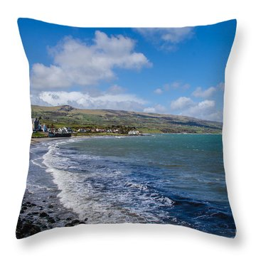 Northern Ireland Coast Throw Pillow
