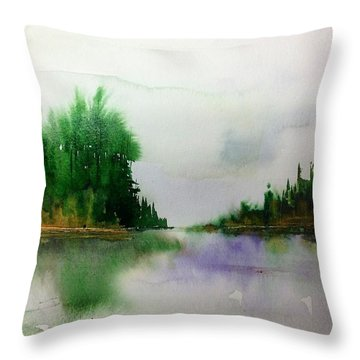 Northern Lake - Mellow Day Throw Pillow